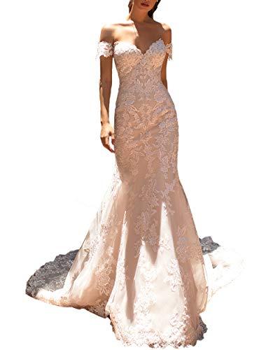 White Off the Shoulder Puffy Flower Short Wedding Dress