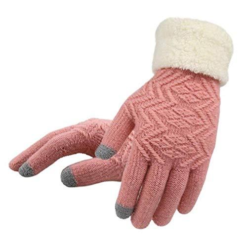Guantes de punto de la pantalla táctil del invierno de las mujeres de la manera de los guantes de punto de las mujeres gruesas de