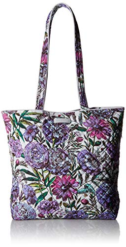 Vera Bradley Iconic Tote Bag, Signature Cotton, Lavender Meadow