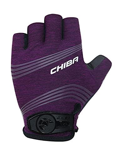 Chiba Super Light Damen Fahrrad Handschuhe kurz lila 2021: Größe: XS (6)