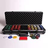 Redtooth Poker 500 Numbered Chip Set with 14 Gram Casino Chips & Button Kit. Includes Values 25-5000