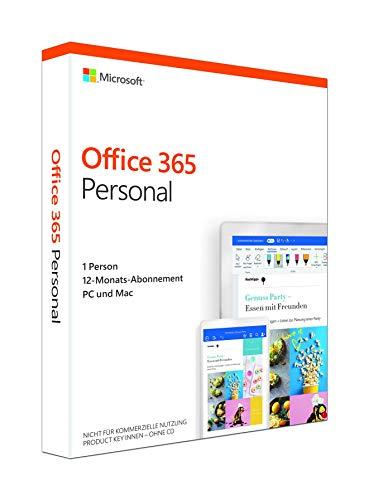 Microsoft Office 365 Personal (jetzt Microsoft 365 Single) multilingual | 1 Nutzer | Mehrere PCs / Macs, Tablets und mobile Geräte | 1 Jahresabonnement | Box