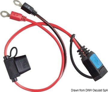 Victron stekker met oogje M6 voor oplader van accu's Blue Power IP65