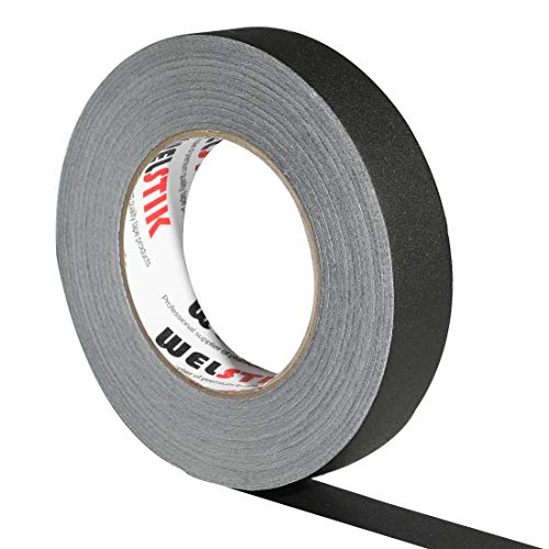 """WELSTIK 1 Pack Gaffer Tape Black 1""""X 60 Yards-Heavy Duty Gaffers Tape for Cables,Photography,Theater Stage Setup,Interior Design,Residue Free,Non Reflective,Easy to Tear"""