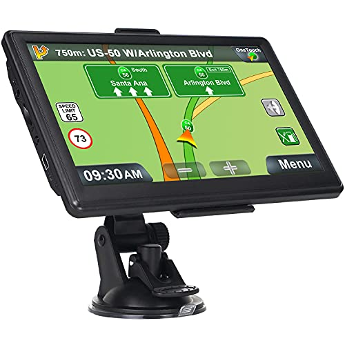 GPS Navigation for Car, Latest 2021 Map Touchscreen 7 Inch 8G 256M Navigation System with Voice Guidance and Speed Camera Warning, Lifetime Free Map Update