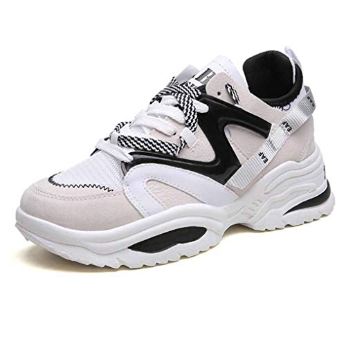 Männer Frauen Chunky Trainer Mixed Color Schnürliebhaber Basketball Jogging Fitness Gym Schuhe Atmungsaktive Plattform Wedges Sneakers 36-43