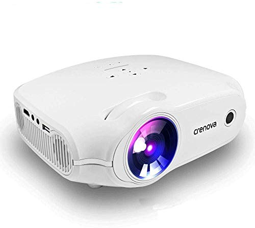 Heimkino-Projektor Stützandroide Videoprojektor 3000 Lumen 200 '' Big-Anzeige-LED-Projektor kompatibel mit PS4 HDMI VGA-Handel und USB for Home Entertainment und PPT, Weiss (Color : White)