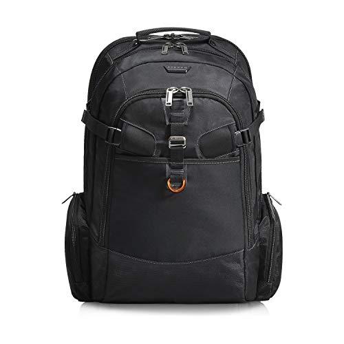 Everki EKP120 – Laptop Rucksack für Notebooks bis 18,4 Zoll (46,7 cm) mit durchdachtem Fächer-Konzept, viel Stauraum und weiteren hochwertigen Funktionen, Schwarz