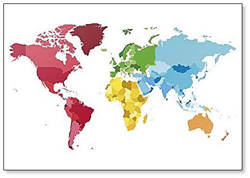 Politieke blanco wereldkaart - Koelkast magneet