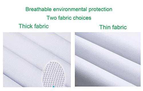 WWOO Laborkittel Damen Baumwolle weiß Arztkittel Arbeitskleidung Medizin kittel Weiss Fabric-Aktualisierung Dicke XL - 7