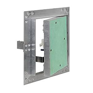 Puerta revisión Trampilla inspección marco aluminio 40x40cm Panel acceso Yeso 12,5 mm Techo Pared