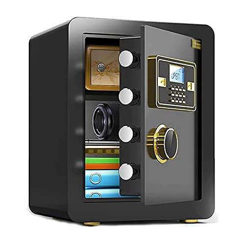 HFFSGS Caja fuerte, antirrobo doméstico, huella dactilar biométrica, caja de acceso rápido con módulo de teclado completo, caja fuerte de acero sólido, caja fuerte, caja fuerte, joyería, objetos de va