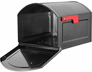 Architectural Mailboxes Centennial Large Capacity Post Mount Mailbox, Black (Pewter)