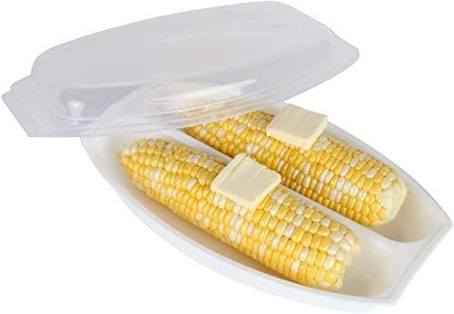 MSM Mikrowellen-Mais-Dampfgarer Maiskolben fettfreie Hühneraugen Küche Lebensmittel Topf schnell einfach spülmaschinenfest