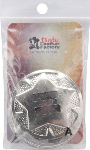 Tandy Leder Factory Concho Verzierung, Nickel, 10pro Paket