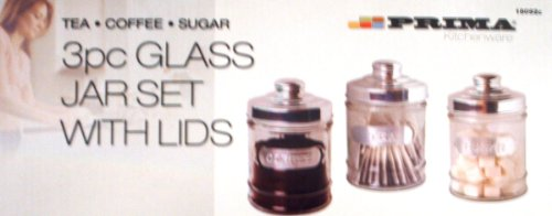 Thé, café et sucre en verre avec couvercles pour bocaux