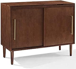 Crosley Furniture Everett Mid-Century Modern Media Console, Mahogany