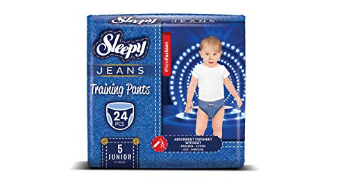 Sleepy Jeans, pantalones de entrenamiento, Junior, talla 5, 11-18 kg, 24 pantalones de pañales por paquete