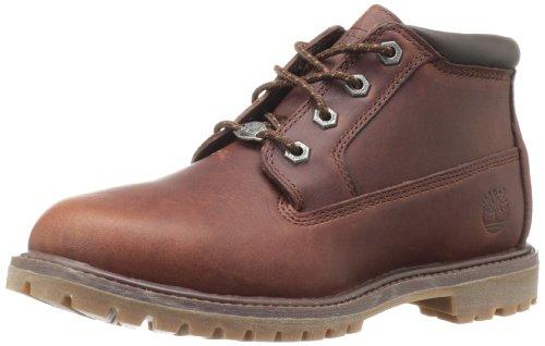 Timberland Damen Nellie Chukka Doppel Stiefel im braun Leder, Braun, US 6 - EUR 37 - CM 23
