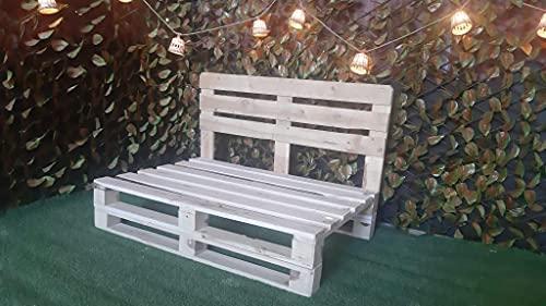 Sofa de palets - Sillon de palets para Jardin, Patio, Terraza - Muebles con palets de Madera - Mobiliario Rustico (110 x 60)