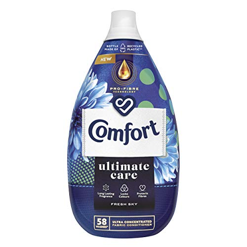 Comfort Ultimate Care Fresh Sky Ultra-Concentrated Fabric Conditioner, 58 Wash, 870ml