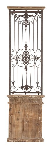"Deco 79 80944 Wood Metal Wall Gate, 71"" H x 20"" W"