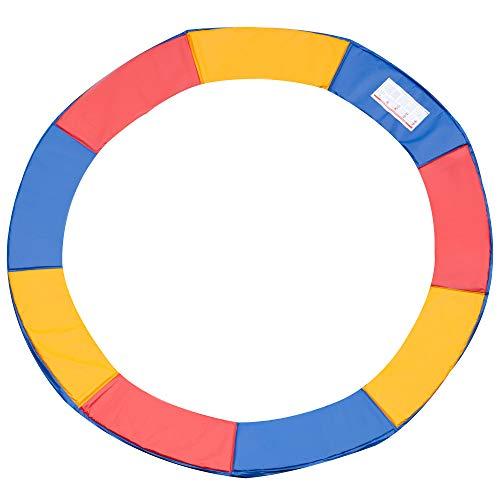 Outsunny Copertura Bordo di Protezione per Trampolino Elastico in PVC Rosso Blu Giallo (Ø305cm)
