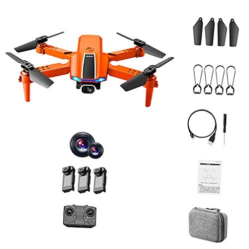 Hellery modalità Senza Testa 4 canali 2.4G RC FPV Drone 4K HD Camera Video in Tempo Reale in Tempo Reale Mantenimento dell'altitudine Controllo App Quadcopter - 2 Fotocamera 3 Batteria spenta