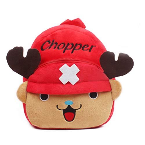 Mochila escolar infantil de dibujos animados One Piece Chopper, mochila escolar de peluche para guardería, para bebé o estudiante