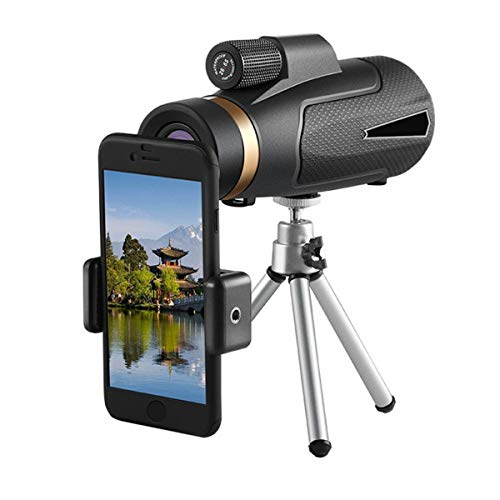 Yhgpom Portable 12x50 Outdoor Single Mini HD Monocular Cell Phone Camera Lens TelescopeSuit for Hiking Camping Bird Watching Best Gifts for Men Child