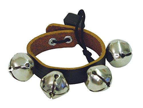 Dimavery Armband mit Klingel - 4 Klingel - 18 cm