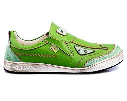TMA 4191 Herren Halbschuh Slipper Sneaker Leder grün alle Größen 41-46 EUR 43