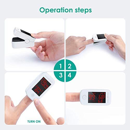 414cCg9XNRL. SL500  - MeaMae Care Oxímetro de pulso Oxímetro de dedo para medir la saturación de oxígeno en la sangre frecuencia del pulso y PI pulsioximetro de dedo profesional con pantalla LED