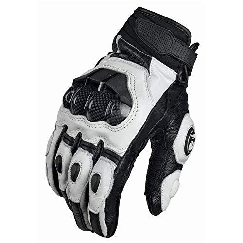 Q_STZP Fahrradhandschuhe Furygan AFS 6 Racing Jaguar Motorradhandschuhe Leder Carbon, Weiß, M