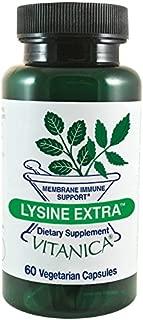 Vitanica Lysine Extra, Immune System Support, Vegan, 60 Capsules