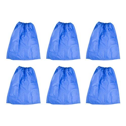 EXCEART 10 Stück Dusche Körper Wickel Spa Bademantel Einweg Vlies Verstellbar für Frauen Spa Dusche Körper Handtuch Rock Robe Blau