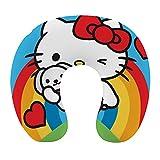 Hello Kitty - Almohada de viaje cervical en forma de U, respaldo de avión, siesta de cuello para...