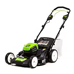 in budget affordable Greenworks PRO battery-powered lawn mower, 21-inch, 80 V, battery and charger not included