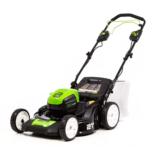 Greenworks Pro 21-Inch 80V Self-Propelled Cordless Lawn Mower, Tool-Only, MO80L00