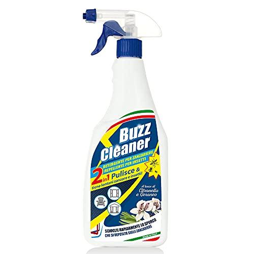 EURO MARKETING MANUFACTURING Buzz Cleaner Detergente Per Zanzariere E Repellente Per Insetti,...
