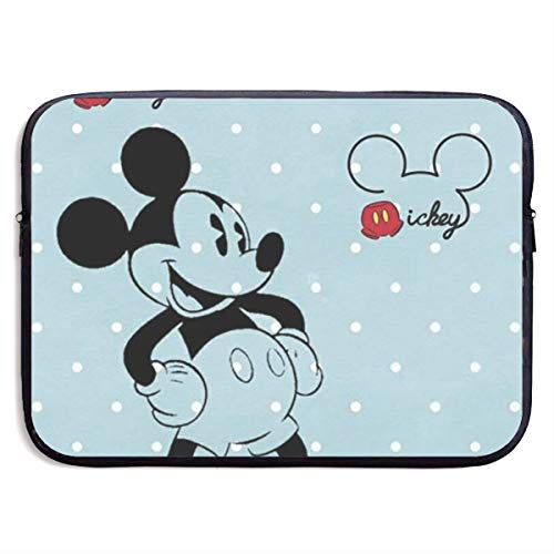 Laptop Sleeve Shockproof Soft Carrying Bag Cute Mickey Mouse Waterproof Fabric Laptop Sleeve Case for 13-15 Inch Notebook Computer