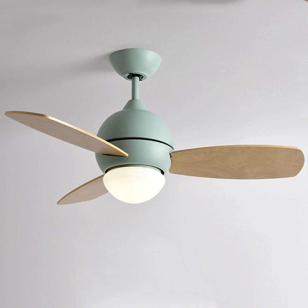 Ventilador de techo retro con luz para interiores, ventilador de techo bajo con luz LED y control remoto, 36 pulgadas, luz de ventilador de techo con aspas pulidas de roble claro / satinado (color: ve