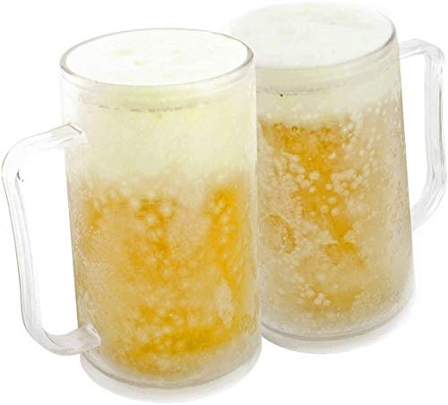 ljfjf Taza congelada congelada de Cerveza congelada Jug 0,4 litros 400 ml Tumbler Cool Pack Líquido ((2 Piezas) (Color : -)
