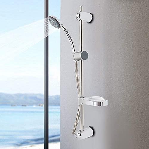 Zyyini Duschkopfset, Duschset Duschstange, Duscharmatur Brausestange Einstellbarer Multifunktions Duschkopf mit Schlauch und Duschschiebestange für Niederdruck Wasserversorgungsleitung (G1 / 2)