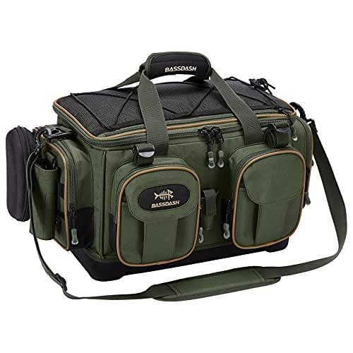 Bassdash(バスダッシュ) 釣り タックルバッグ 大容量 フィッシングバッグ ショルダーバッグ レインカバー付き (タックルケースなし)