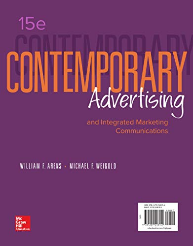 Compare Textbook Prices for Contemporary Advertising and Integrated Marketing Communications 15th Edition Edition ISBN 9781259548154 by Arens, William F