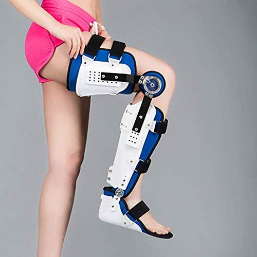 CANDYANA Verstellbare Knieorthese Orthese Fußgelenk- Und Fußorthese Bein- Und Knöchelorthese Kniegelenkkorrektur
