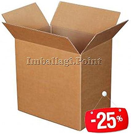 20 pezzi SCATOLA DI CARTONE imballaggio spedizioni 25x25x25cm  scatolone avana