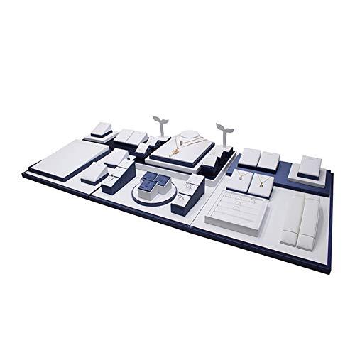 XJBHRB Caja De Almacenamiento De Joyas Regalo, Secciones Bandeja De Exhibición De Collar, para Anillos, Pulseras, Pendientes, Collares, Pulseras