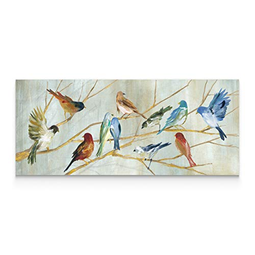 WEXFORD HOME Carol Robinson's 'Spring Migration' Premium Gallery Wrapped Canvas Artwork (3 Art Print, 20x60